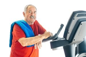 Healthy Senior Man in GYM