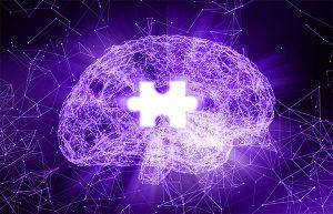 Alzheimer's brain jigsaw puzzle piece