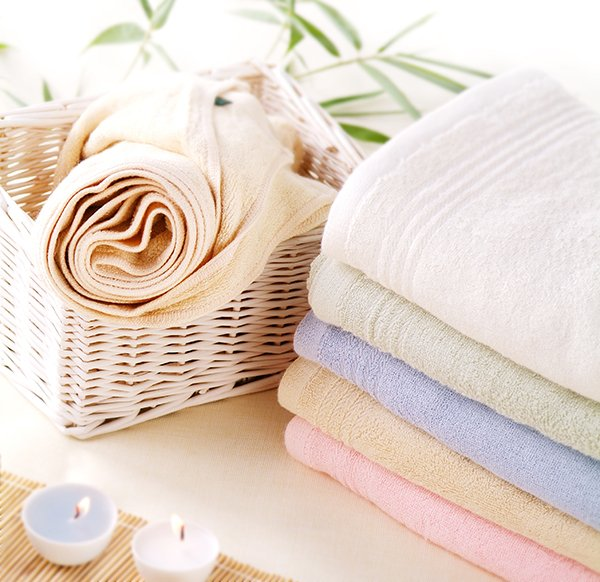 Spa towels in a pile