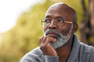 elder man thinking