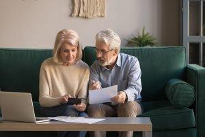 couple discussing finances for aging parents