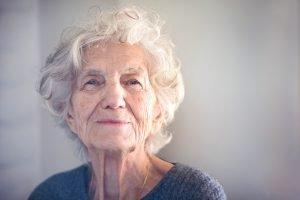 senior with dementia smiling