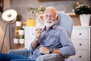 copd patient sitting at the doctor's office