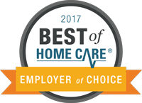 2017 Best of Home Care Employer of Choice logo